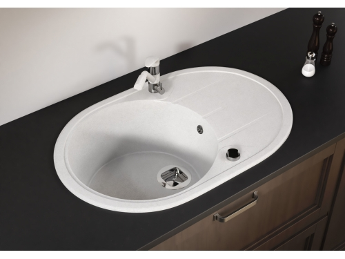 Мойка Tolero-R-104-001, цвет – серый металлик
