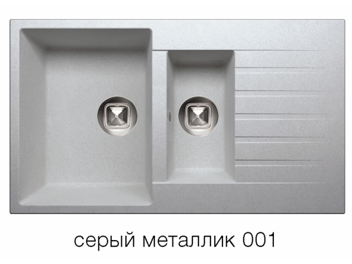 Мойка Tolero-R-118-001, цвет – серый металлик