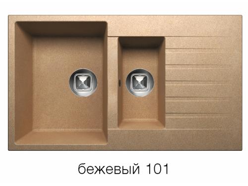 Мойка Tolero-R-118-101, цвет – Бежевый
