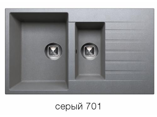 Мойка Tolero-R-118-701, цвет серый