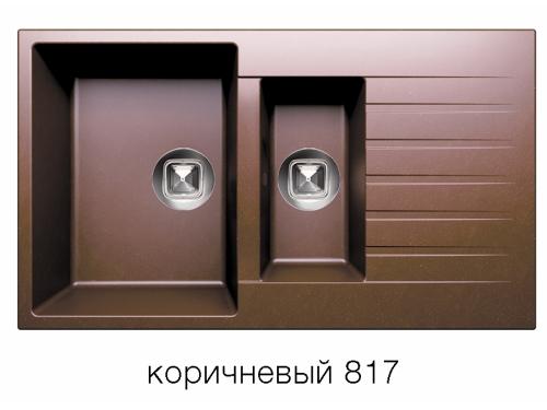 Мойка Tolero-R-118-817 цвет коричневый