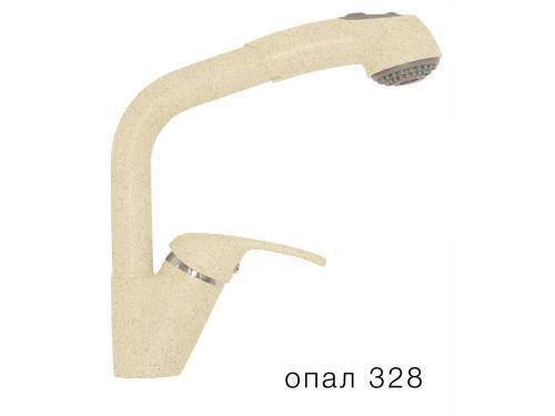 Смеситель кухонный Высокая лейка 328 опал