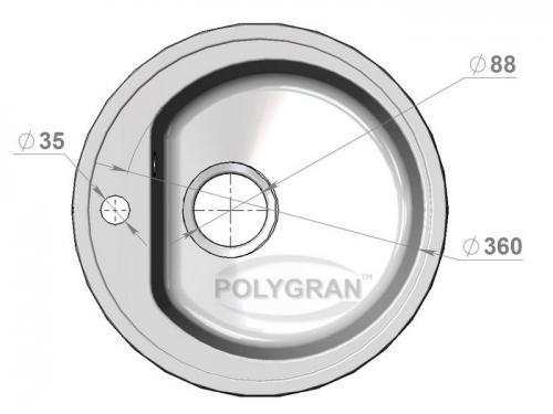 Мойка Polygran-F-05-016, цвет - Черный