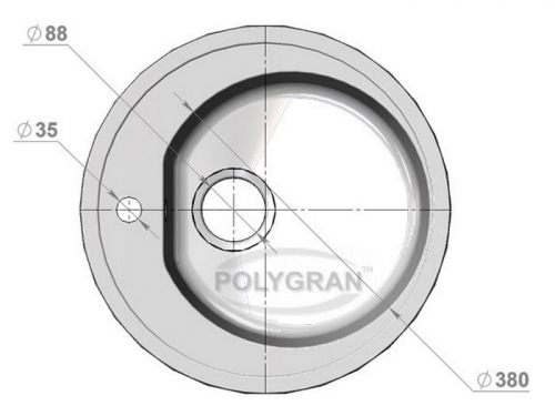 Мойка Polygran-F-08-027, цвет - Бежевый