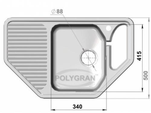 Мойка Polygran-F-10-027, цвет - Бежевый