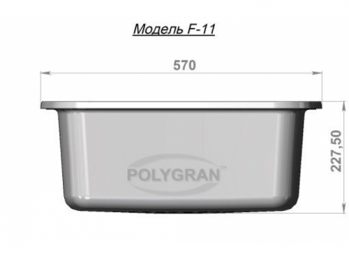 Мойка Polygran-F-11-014, цвет - Серый