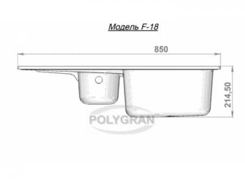 Мойка Polygran-F-18-307, цвет - Терракотовый