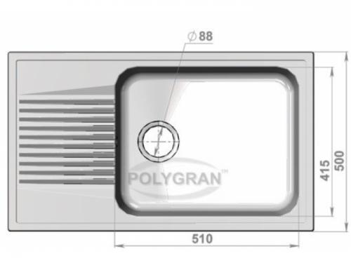 Мойка Polygran-F-19-331, цвет - Хлопок