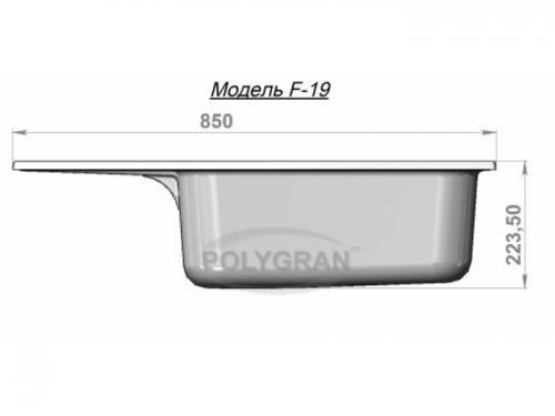 Мойка Polygran-F-19-328, цвет - Опал