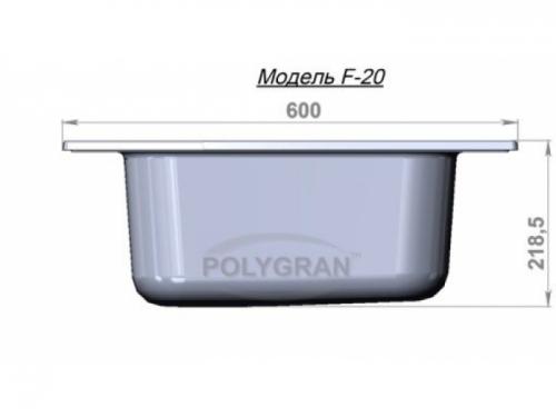 Мойка Polygran-F-20-027, цвет - Бежевый