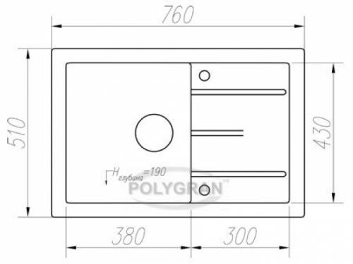 Мойка Tolero-R-112-911, цвет - Черный