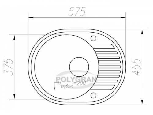 Мойка Tolero-R-122-923, цвет - Белый